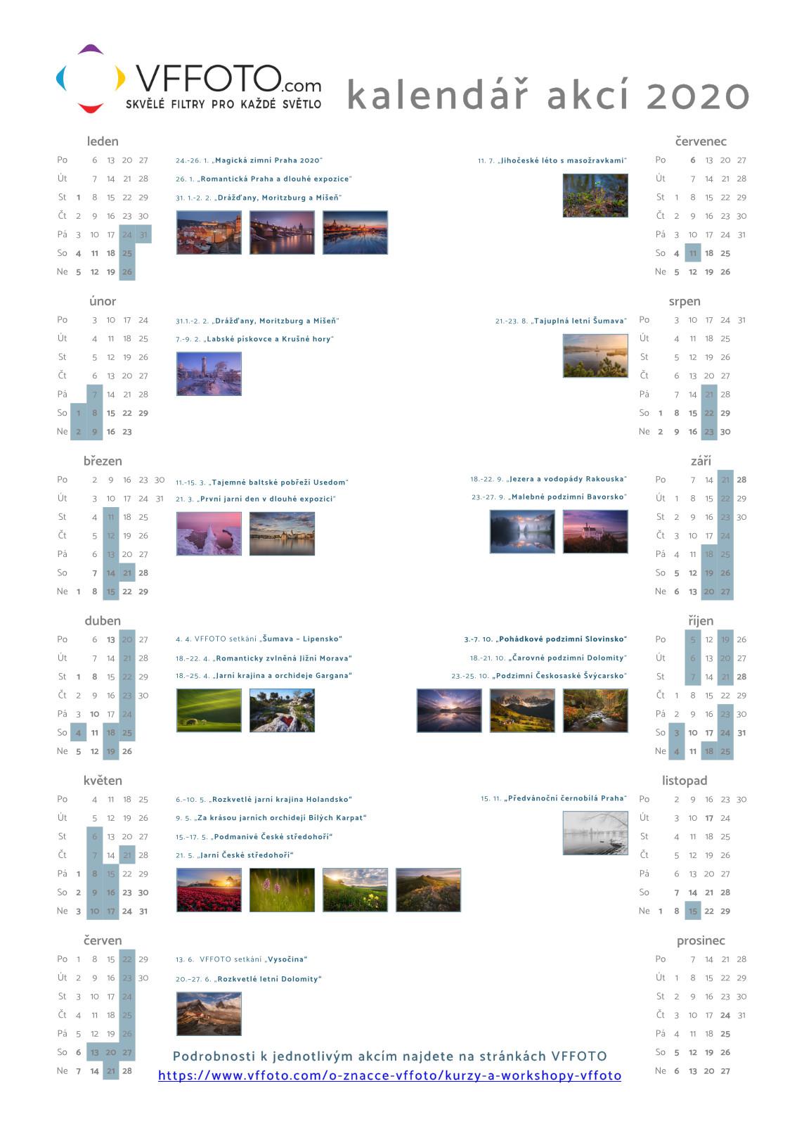 kalendář akcí VFFOTO