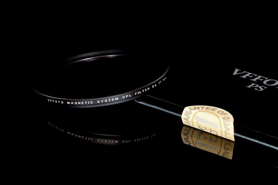 magnetický polarizační filtr VFFOTO PS 77 mm